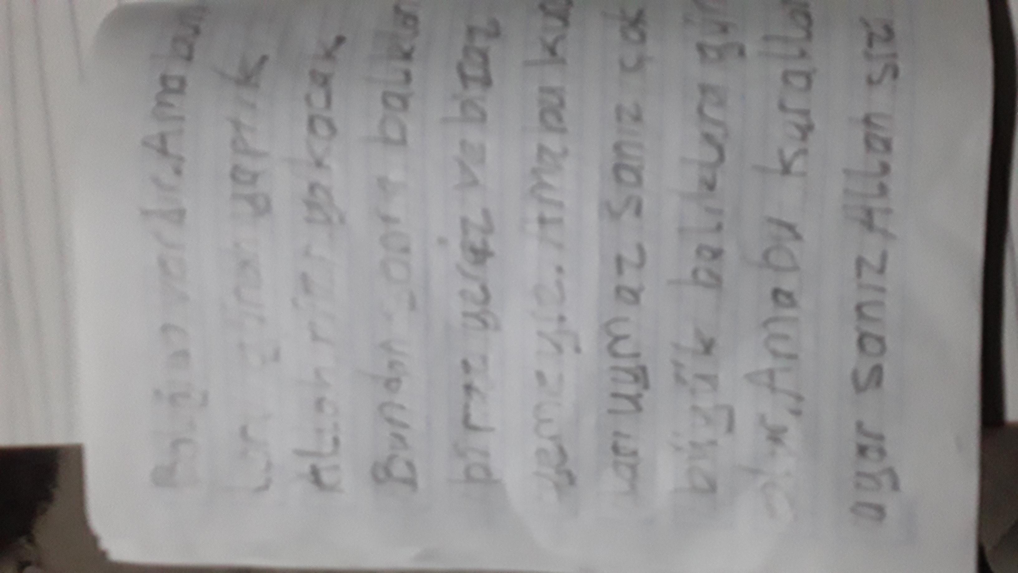 Orjinal halinin 2 sayfası